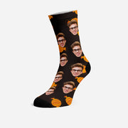 Custom Socks with Your Face Funny Socks Yellow Candy