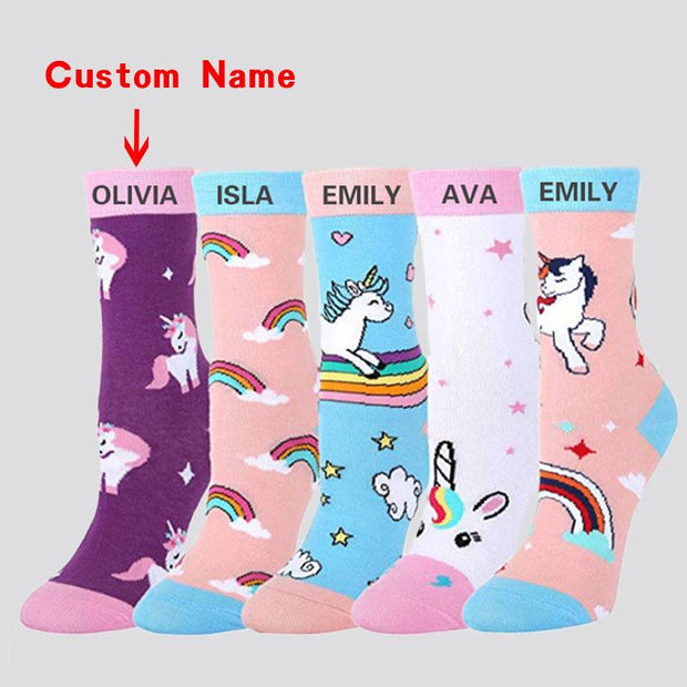 Custom Unicorn Socks