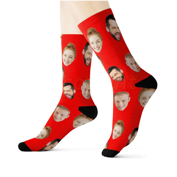Personalized Good Friends Photo Socks / Custom Socks / Custom Photo Socks / Personalized Socks With Photo