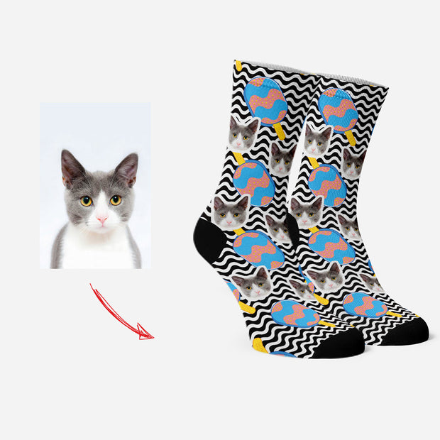 Custom Socks for Pet Lovers Personalized Face Socks Popsicle