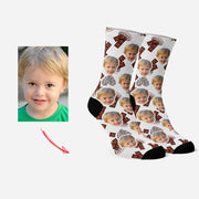 Custom Socks with Your Face Funny Socks Chocolate