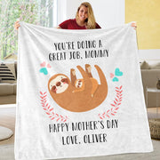 Custom Name Mother's Day Cozy Plush Fleece Blankets