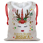 Personalized Unicorn Santa Sack / Christmas Gift Bag