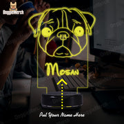 Personalized Dog LED Lamp (Mosan)
