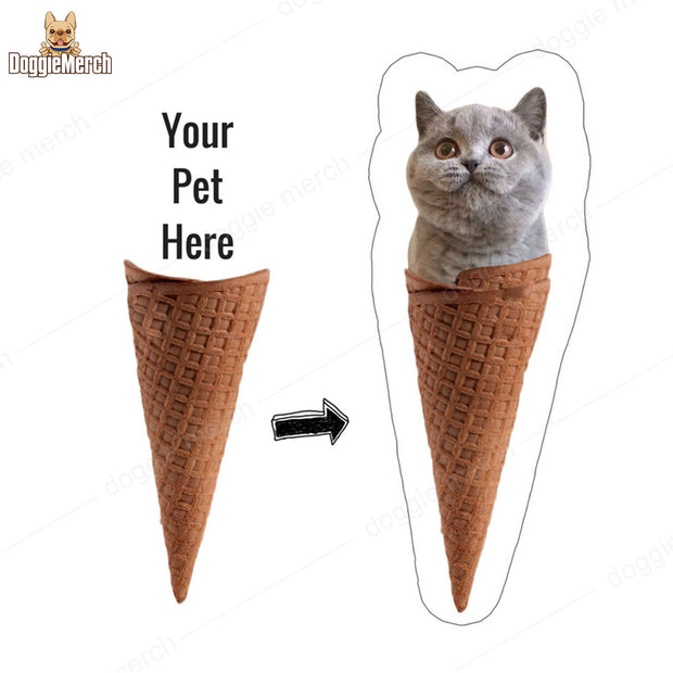 Personalized Ice Cream Pet Pillow