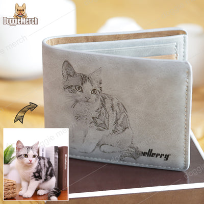 Custom Leather Wallet of Your Pet