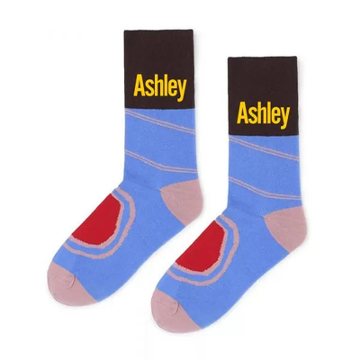 Custom Socks Crazy Socks Mens Socks Women's Sock Blue & Pink
