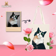 Custom Art Tote Bag of Your Pet's Photo