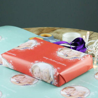 Personalized Christmas Gift Wrapping Paper with Photo