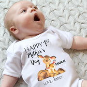 Personalized Deer Mother's Day Baby Onesies and Matching Mom Shirts