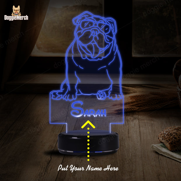 Personalized Dog LED Lamp (Sarah)
