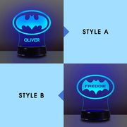 Personalized 7-Color Acrylic 3D Bat Lamp