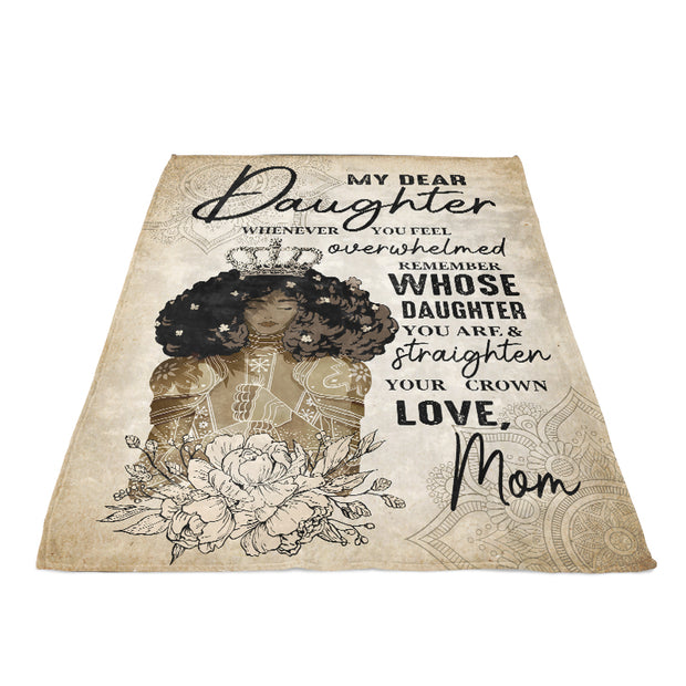 My Dear Daughter Vertical Fleece Blanket-Gift for Mother's Day