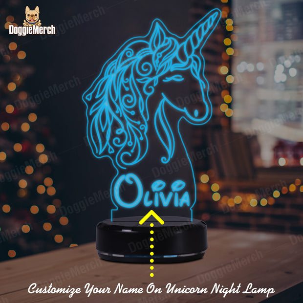 Personalized Unicorn LED Lamp (Olivia Version)