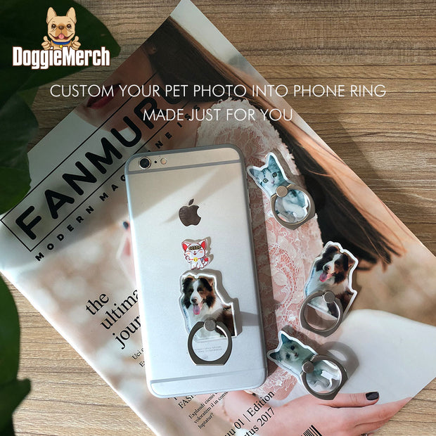 Custom Pet Love Phone Ring Stand