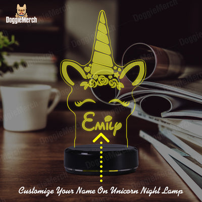 Personalized Unicorn LED Lamp (Emily Version)