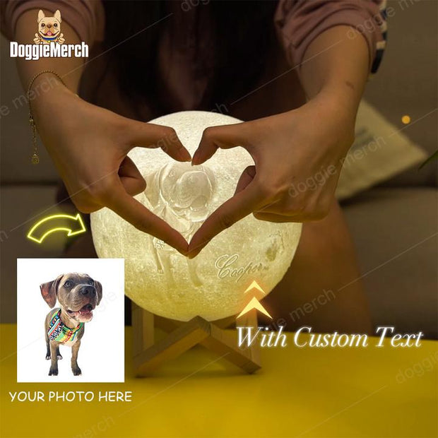 Customized 3D Print Moon Lamp of Your Pet