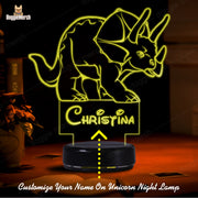 Personalized Dinosaur LED Lamp