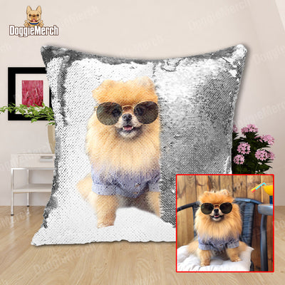 Put Your Pet on A Reversible Sequins Cushion