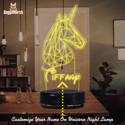 Personalized Unicorn LED Lamp (Tiffany Version)