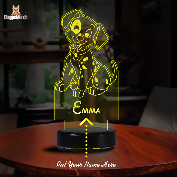 Personalized Dog LED Lamp (EMMA)