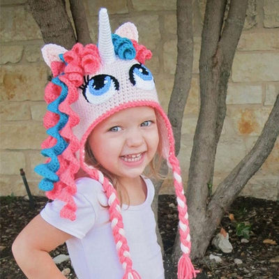Crochet Unicorn Hat/Crochet Pony Hat for Newborn Babies, Children and Teenager