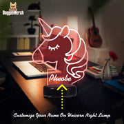 Personalized Unicorn LED Lamp