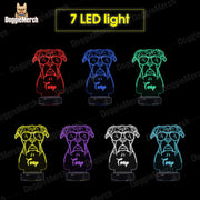Personalized Dog LED Lamp (Toby)