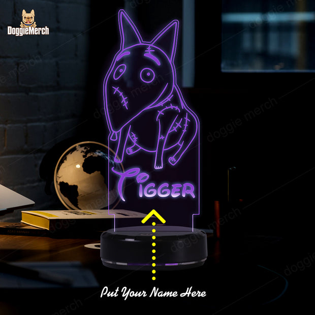 Personalized Dog LED Lamp (Sparky)