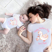 Custom Goose Mama and Baby Mother's Day Onesies and Matching Mom Shirts