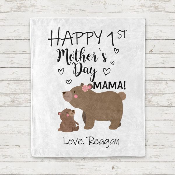 Personalized Mama Bear Baby Cub Mother's Day Baby Onesies and Matching Mom Shirts