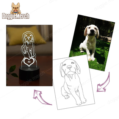 Custom LED Art Portrait Lamp