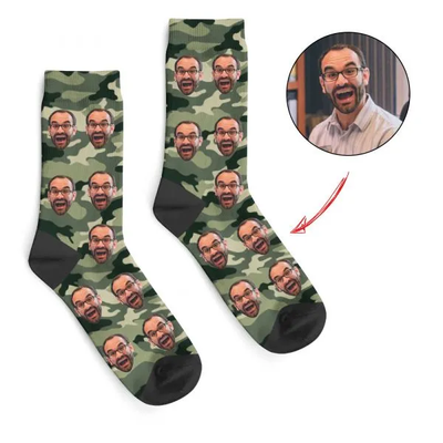 Independence Day Custom Face Socks Army