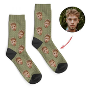 Independence Day Custom Face Socks Office Camo