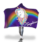 Personalized Magical Unicorn Hooded Blankets