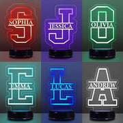 Personalized Children's Lamp with Name / 7 Colors 3D Night Light