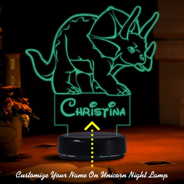 Custom Night Light for Kids Baby Nursery Nightlight / 7 Color Changing Gifts for Kids Room Xmas Birthday