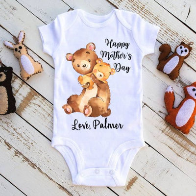 Custom Name Mother's Day Baby Onesies / Mom Shirts