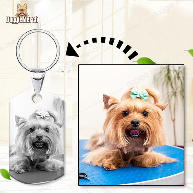 Personalized Photo Keychain in Silver