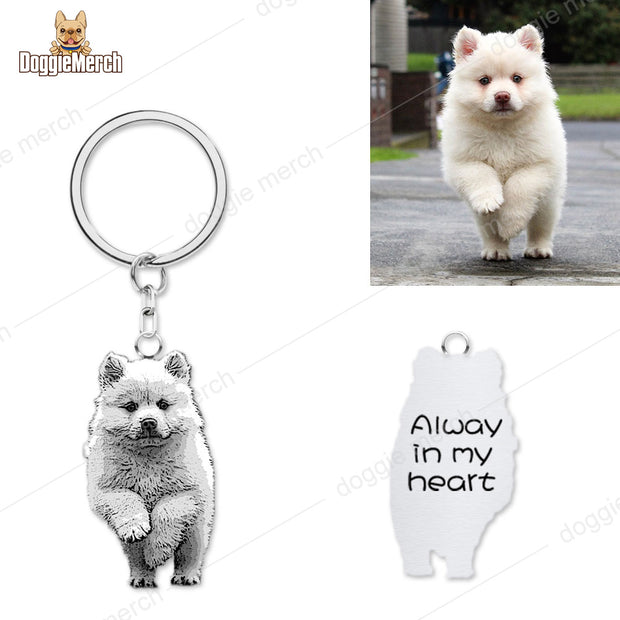 Personalized Photo Portrait Engravable Keychain