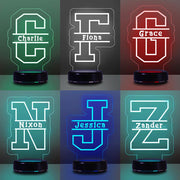 Personalized Children's Lamp with Name - 7 Colors 3D Night Light