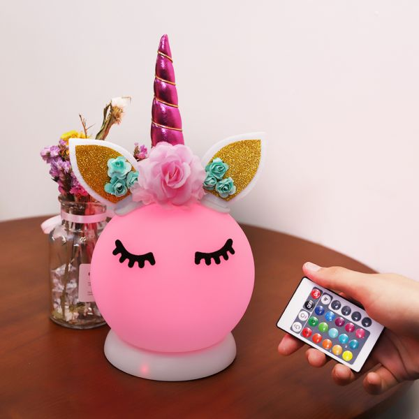 DIY 3D Unicorn Night Lights for Kids Room / 16 Color Unicorn Lamp