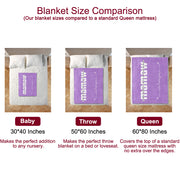 Personalized Fleece Blanket with Your Nick & Kids' Names -BUY 2 SAVE 10%