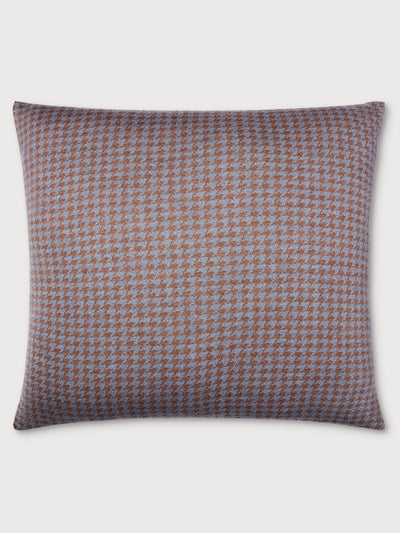 Houndstooth Sand Brown and Stone Grey Cushion
