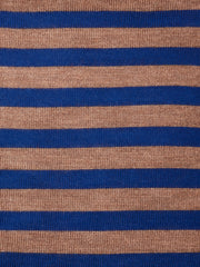 Striped Dark Navy and Caramel Brown Cushion