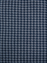 Houndstooth Dark Navy and Space Grey Cushion