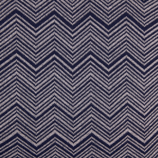 ZigZag Dark Navy and Space Grey Cushion