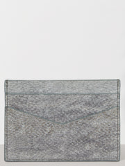 Pearl Grey Aquatic Leather Card Holder