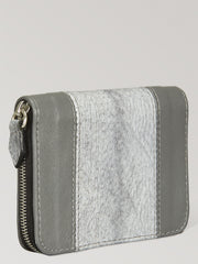 Zip Case Grey Aquatic Leather Card Holder