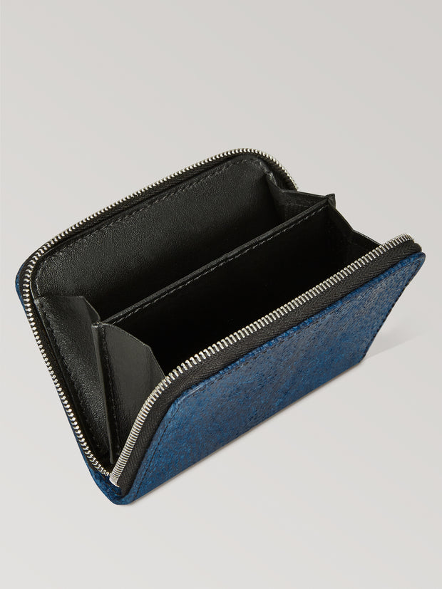 Naval Blue Zip Aquatic Card Case